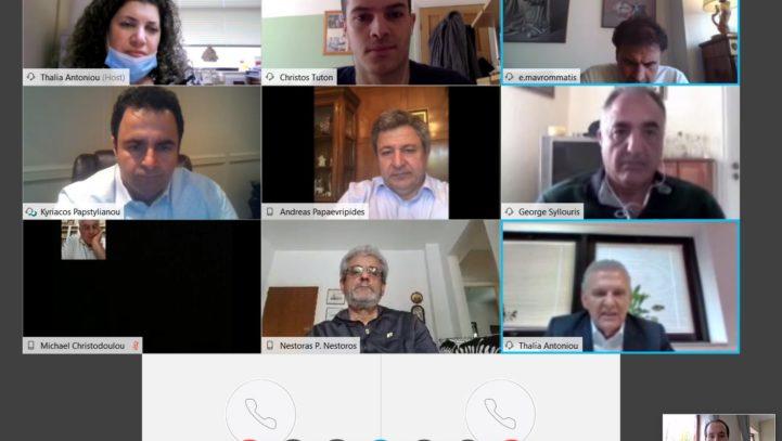 Online συνάντηση με τον Προεδρικό Επίτροπο, ΠΣΕΚΑ και ΝΕΠΟΜΑΚ